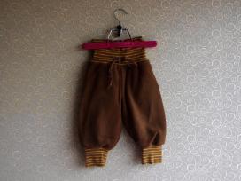 Rudos labai šiltos kelnytės 68, pašilti džinsai 74 - nuotraukos Nr. 2