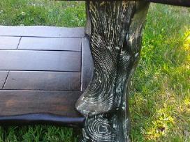 Parduodamas juodo ąžuolo masyvo stalas - nuotraukos Nr. 3