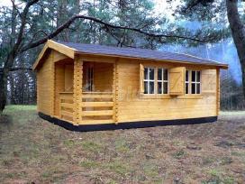 Mediniai nameliai ir namai jūsų sodui ar sodybai