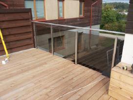 Berėmio grūdinto stiklo-metalo konstrukcijos - nuotraukos Nr. 2