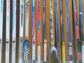 Lygumų slidės 90 cm. iki 220 m.su batais lazdom