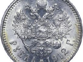 Pirksiu 1 rublio, 50, 25, 5 kapeikų monetas