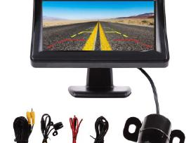 Galinio vaizdo parkavimosi kamera su LCD ekranu