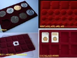 Padėklai (paletės) monetoms, medaliams, kapsulėms