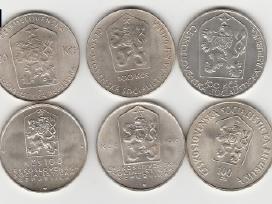 Cekoslovakija nuo 50kc. iki 100kc. 44vnt. monetu - nuotraukos Nr. 2