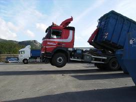 Hook lift tipo sunkvežimio nuoma