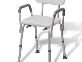 Dušo Kėdutė iš Aliuminio, Balta 110129 Vidaxl