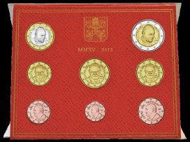 Vatikano euru monetu rinkiniai pagal metus