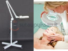 Kosmetologinė lempa su lupa