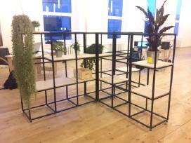 Metaliai baldai - lentynos, spintos