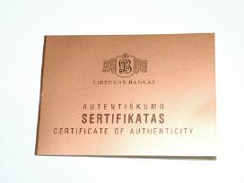 Sertifikatas monetai ,Trakų salos piliai