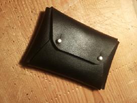 Odinė rankų darbo piniginė - nuotraukos Nr. 2