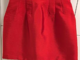 Raudonas ryškus H&m sijonas