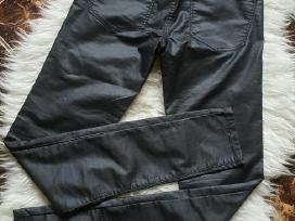 Nauji cubus šlapio efekto siauri džinsai