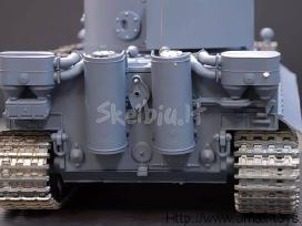 Naujas rc tankas german tiger su garsu ir dūmais - nuotraukos Nr. 2