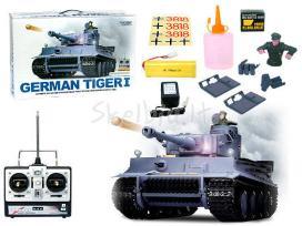 Naujas rc tankas german tiger su garsu ir dūmais - nuotraukos Nr. 3