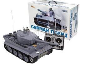 Naujas rc tankas german tiger su garsu ir dūmais - nuotraukos Nr. 5