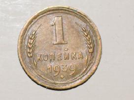 Moneta 1 kapeika 1939m. N128