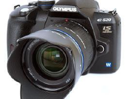 Olympus E-520 ir kt veidrodiniai ir objektyvai