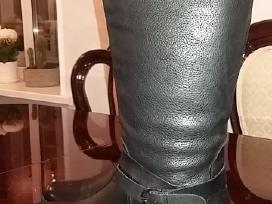 Juodi auliniai batai(nauji).odiniai