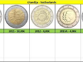 Nyderlandai - Olandija 2 euro monetos Unc - nuotraukos Nr. 2