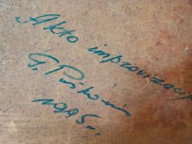 """G. Puškorius """"Akto improvizacija"""", pastelė, 1995m. - nuotraukos Nr. 3"""