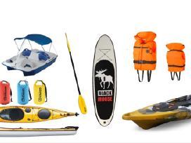 Irklenčių ir kitų vandns sporto inventoriaus dalys