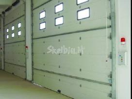 Garažo vartai, pakeliami, segmentiniai, apšiltinti