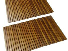 2 Mediniai Vonios Kilimėliai 80 x 50 cm, Akacija