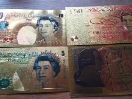 Anglu auksiniai bonknotai kaina 30 euru.