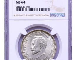 1938 10lt Smetona ms64, unc. Sertifikuota Ngc