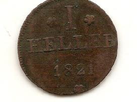 Frankfurtas heller 1821 #301