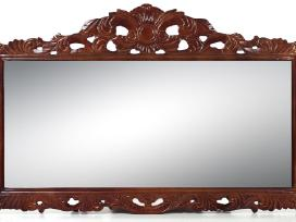 Naujas didelis veidrodis drožinėtais rėmais