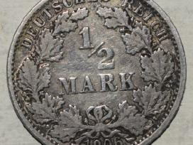Vokietija, moneta 1/2 Mark 1906a N235+*
