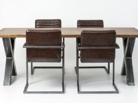 Odines Bergamo kėdė, industrinio metalo rėmas - nuotraukos Nr. 7
