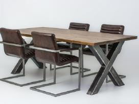 Odines Bergamo kėdė, industrinio metalo rėmas - nuotraukos Nr. 8