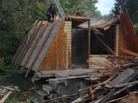 Sodo nameliu ir kitu nesudetingu pastatu griovimas