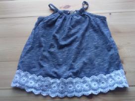 Mėlyna suknelė su gėlytėmis kūdikiui
