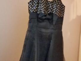 Šventinė juoda, su papuošim. s/m dydžio suknelė.
