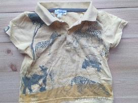 Geltonos spalvos safari marškinėliai trumpomis ran