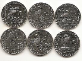 Burundzio 5 franku monetu rinkinukas