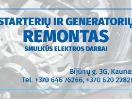 Starteriu ir Generatoriu remontas