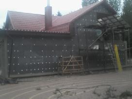 Šiltinam fasadus -pamatus Apdaila laukas= vidus