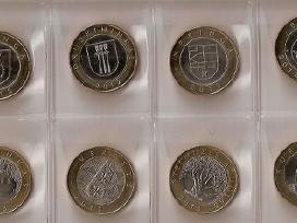 2012-2013m.2lt proginės monetos 8vnt.unc