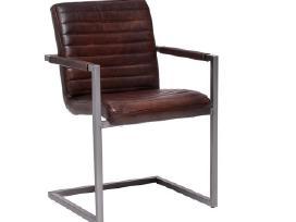 Odines Bergamo kėdė, industrinio metalo rėmas