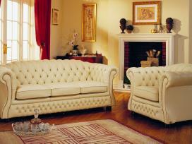 Chesterfield natūralios odos nauji baldai