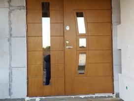 Lauko durys su Okoume, Jurine plokste, Seifines.
