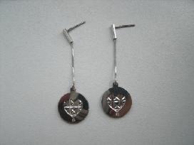 Nauji sidabriniai auskarai