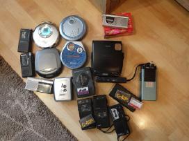 Įvairūs diktofonai, CD ir kasetiniai grotuvai