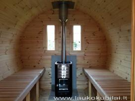 Apvali Lauko pirtis-sauna, pirtis-bačka 2,4m ilgio